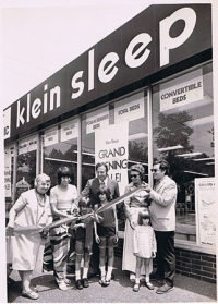 Grand Opening of Klein Sleep Mattress Store and later re-named to Organic Mattress Gallery at Sleep etc