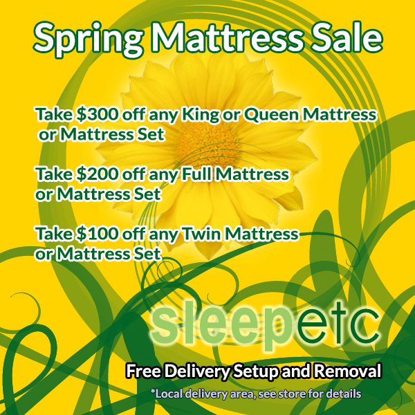 FREE NATURAL PILLOW - FREE LOCAL DELIVERY Spring Mattress Sale