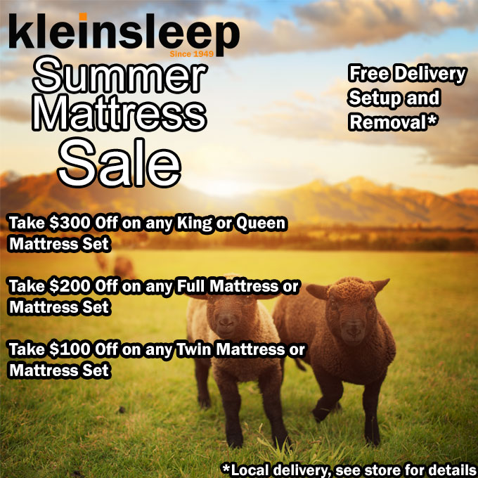 FREE NATURAL PILLOW - FREE LOCAL DELIVERY Summer Mattress Sale